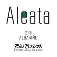 Etiqueta Aleata Albariño Vino blanco D.O. Rías Baixas