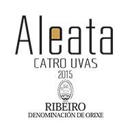 Etiqueta Aleata 4 Uvas Vino blanco D.O. Ribeiro